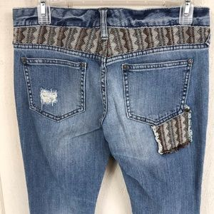 Free People Jeans - Free People distressed patchwork jeans size 27